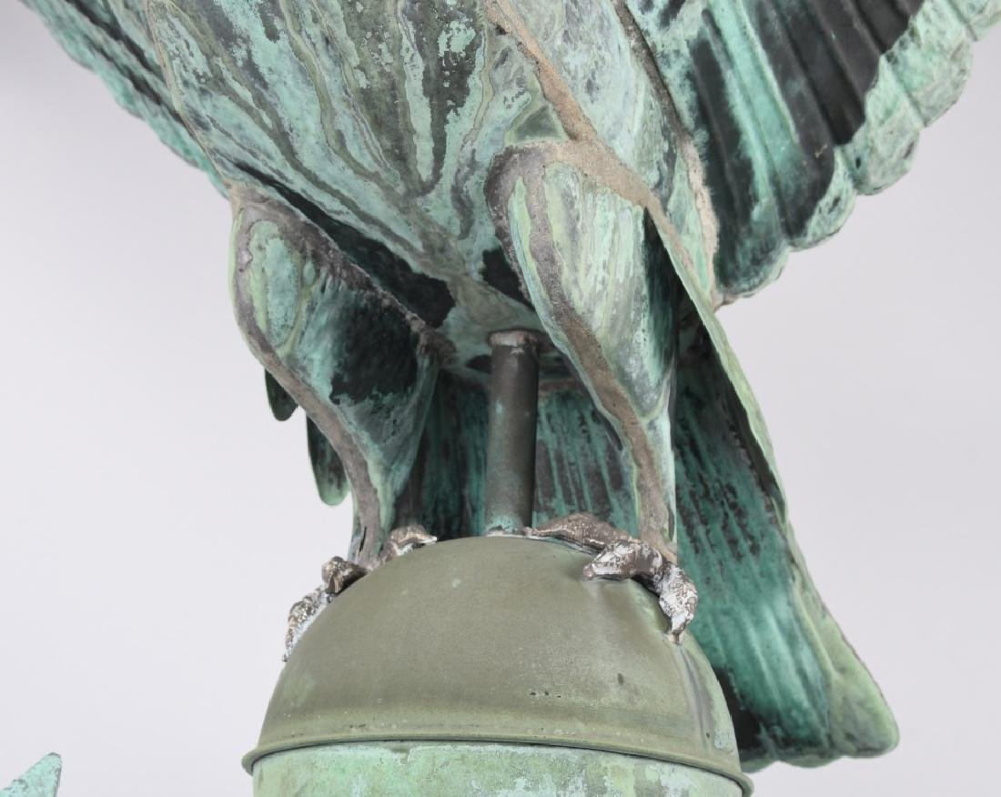 LARGE COPPER AMERICAN EAGLE WEATHER VANE - 17