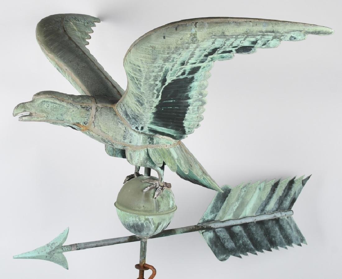 LARGE COPPER AMERICAN EAGLE WEATHER VANE