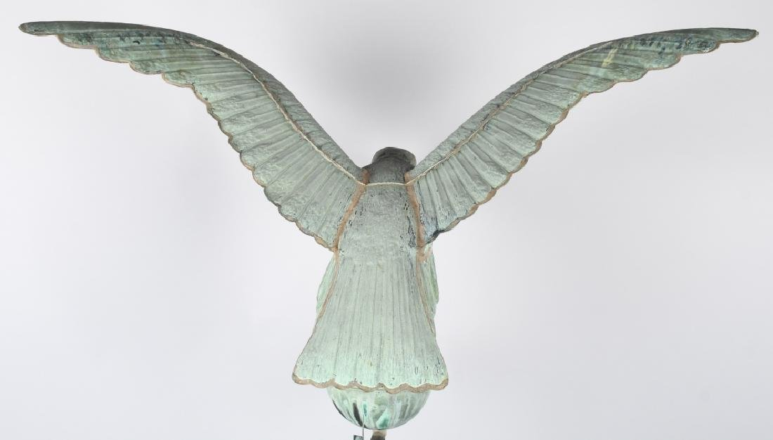 LARGE COPPER AMERICAN EAGLE WEATHER VANE - 8
