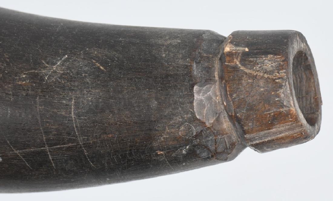 2-19th CENT. CARVED GUNPOWDER HORNS - 5