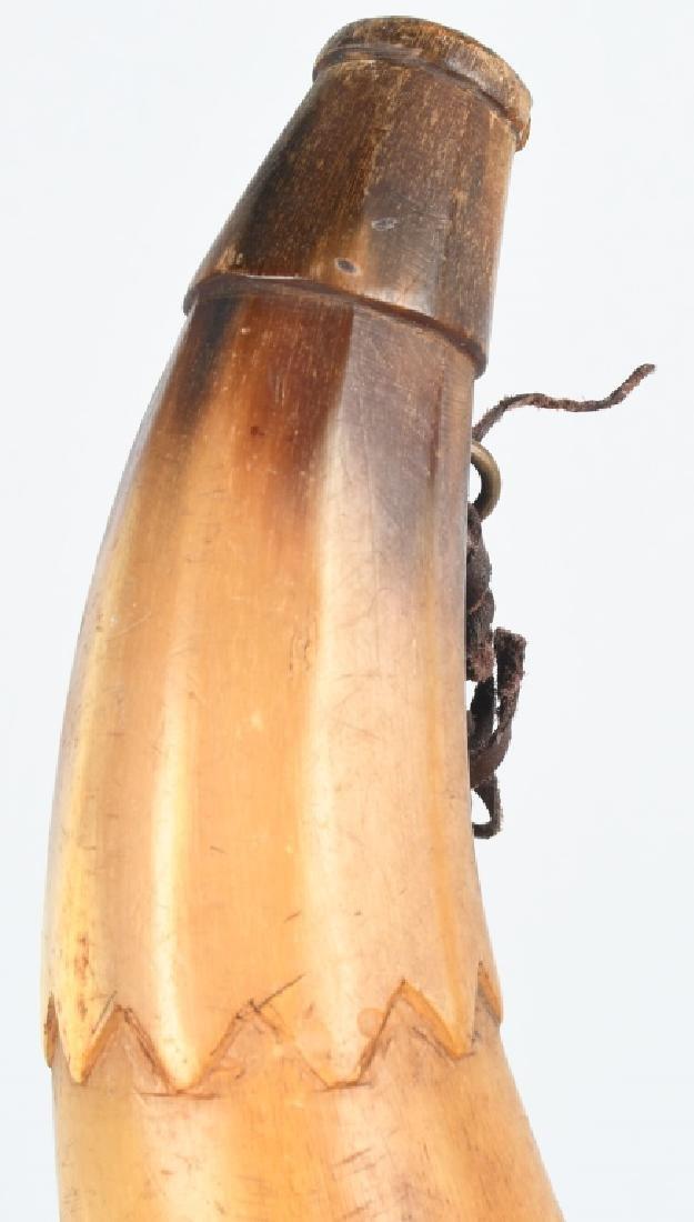 3-19th CENT. CARVED GUNPOWDER HORNS - 4