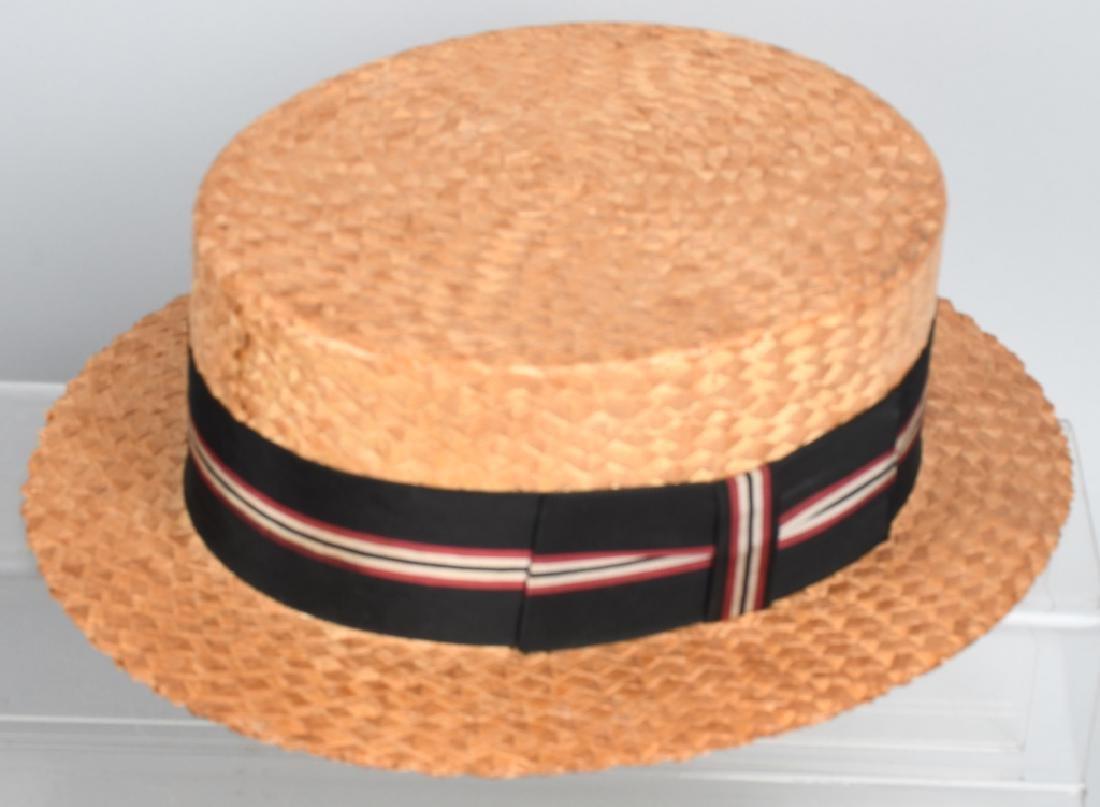 4-VINTAGE HATS & PEWTER LIQUOR FLASK - 2