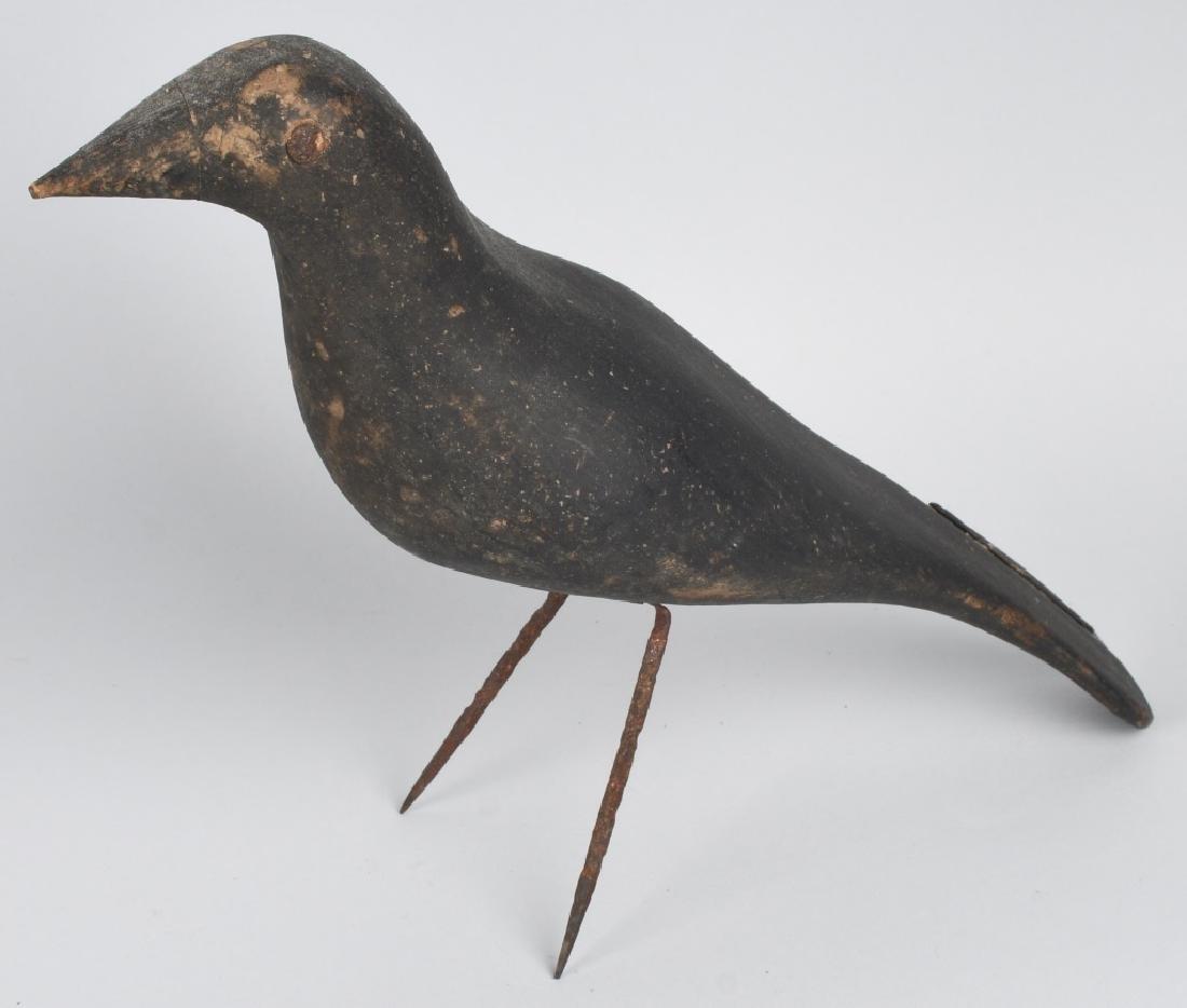 RAVEN BIRD DECOY & FOLK ART BIRD DOOR KNOCKER - 2