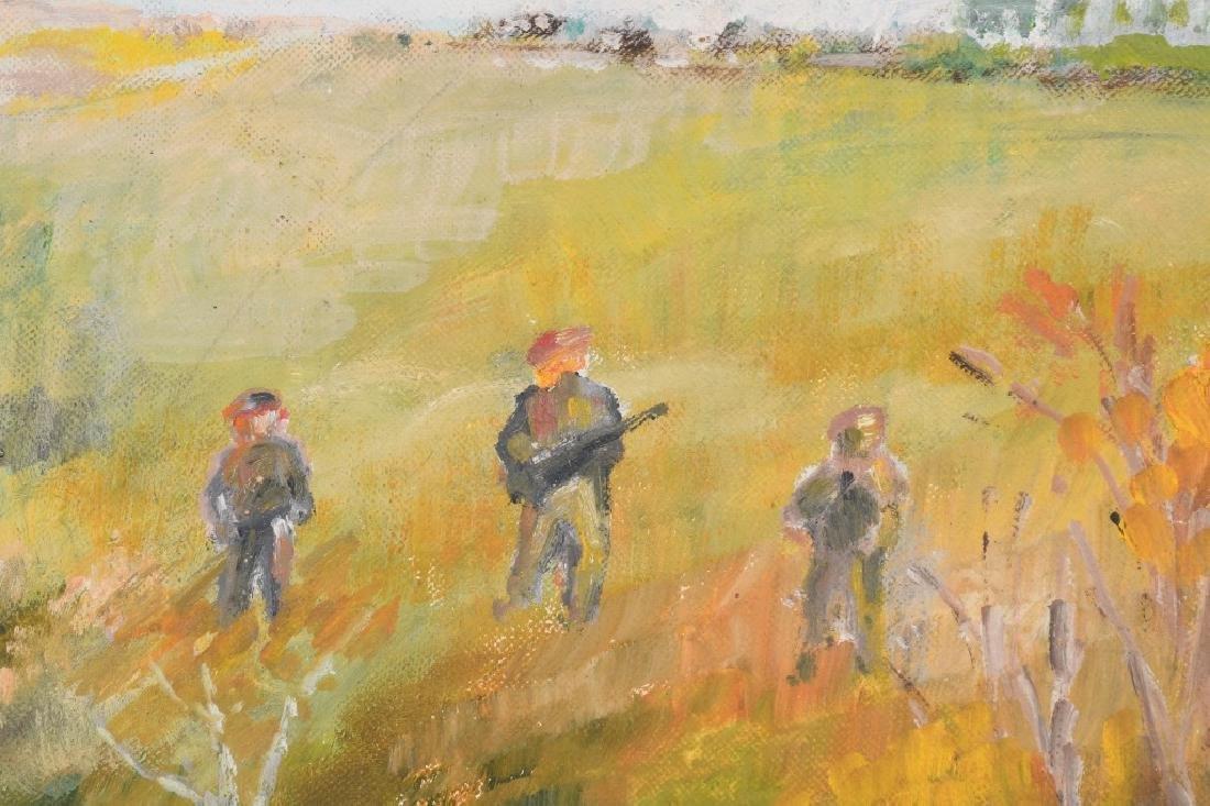 H. HEBBARD HUNTERS IN FIELD OIL ON BOARD - 2