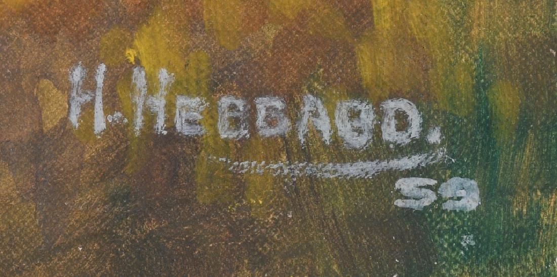 H. HEBBARD HUNTERS IN FIELD OIL ON BOARD - 3