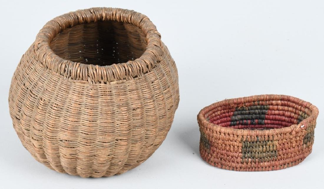 4- INDIAN BASKETS & INDIAN POTTERY VESSEL - 6