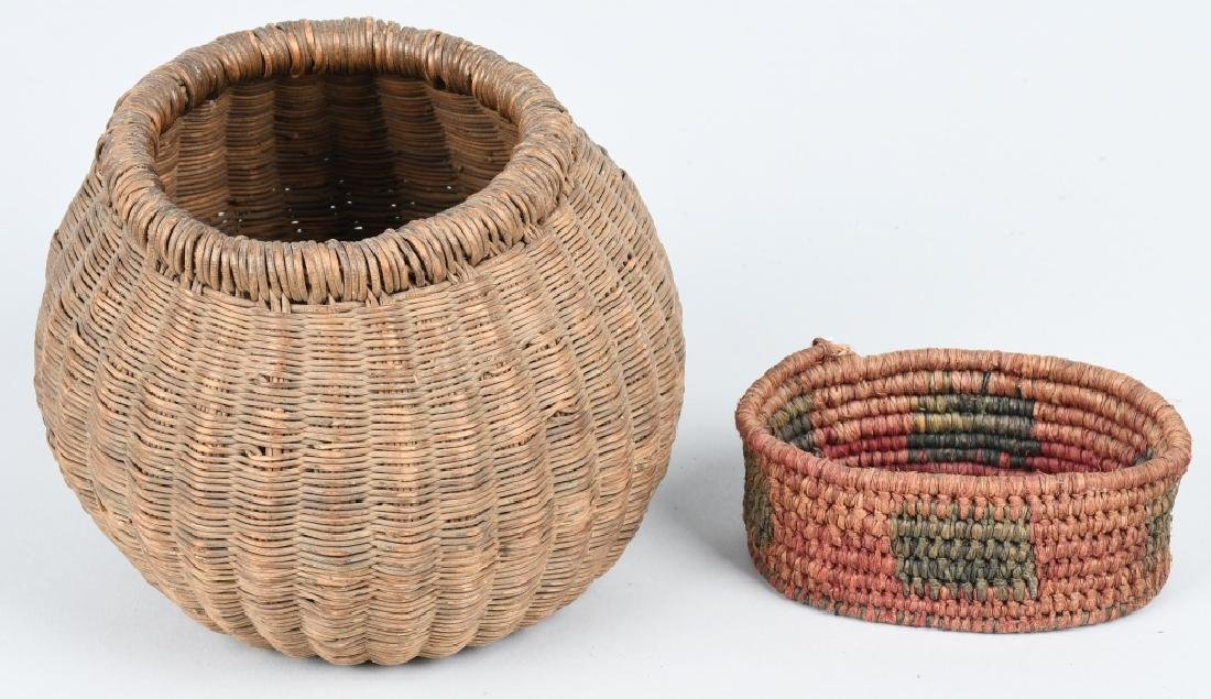 4- INDIAN BASKETS & INDIAN POTTERY VESSEL - 7