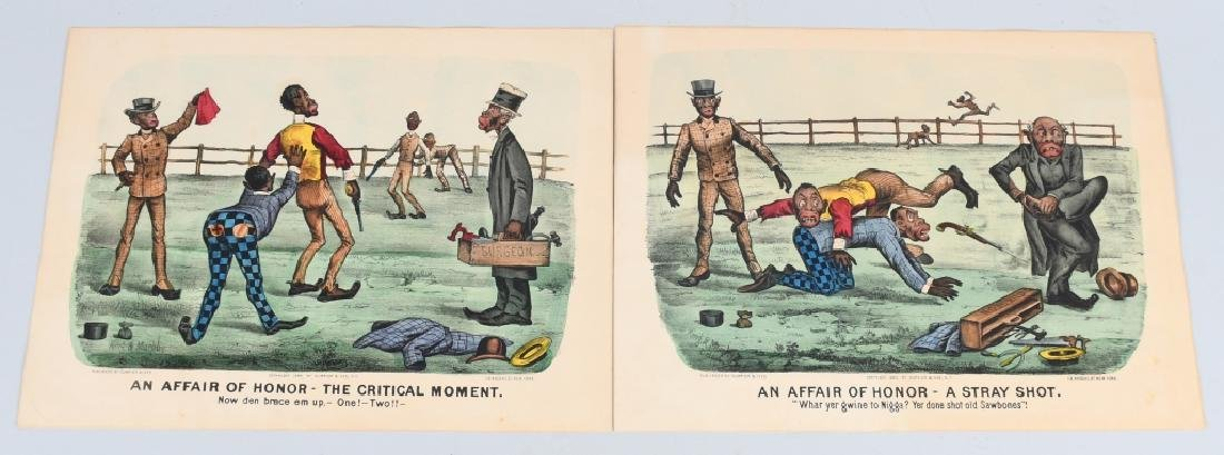 19th CENT. CURRIER & IVES BLACK AMERICANA PRINTS