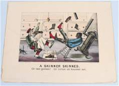 19th CENT CURRIER  IVES BLACK AMERICANA PRINT