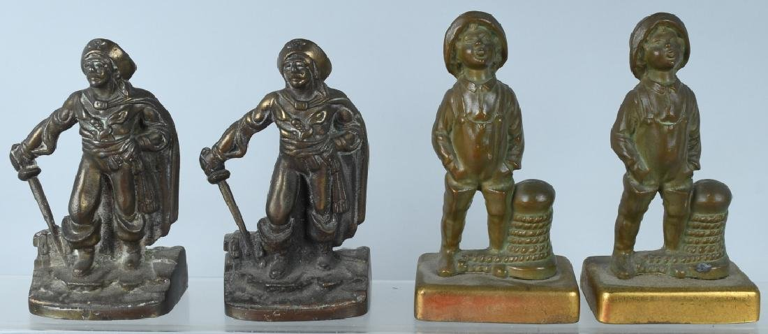 VINTAGE NAUTICAL FIGURAL BOOKENDS, PIRATE & MORE