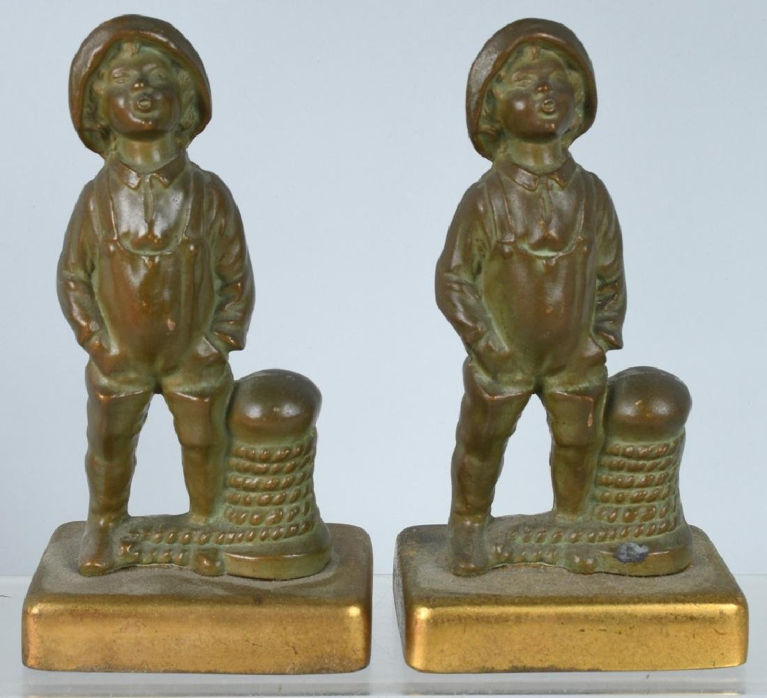 VINTAGE NAUTICAL FIGURAL BOOKENDS, PIRATE & MORE - 2