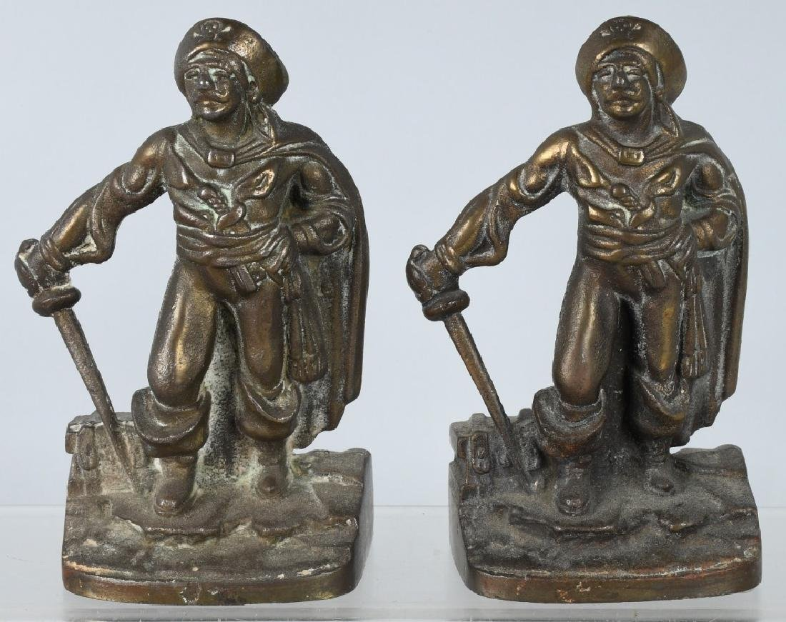 VINTAGE NAUTICAL FIGURAL BOOKENDS, PIRATE & MORE - 4