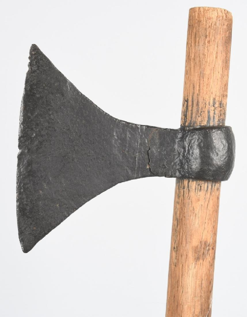19th CENT. FORGED IRON TOMAHAWK - 3