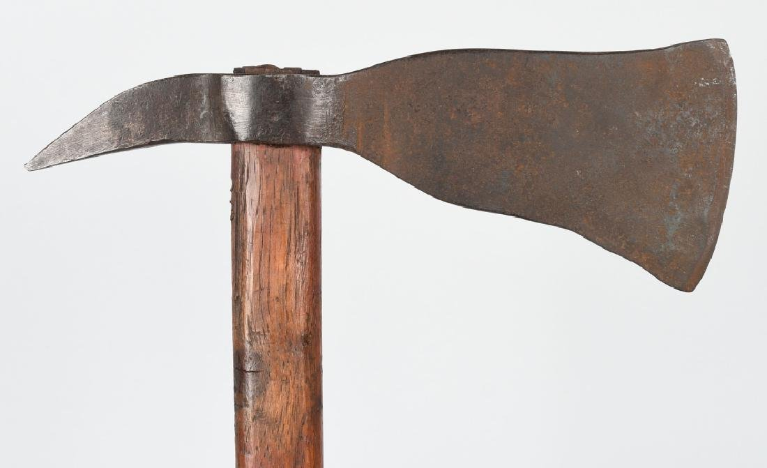 19th CENT. FORGED IRON SPIKE TOMAHAWK - 2