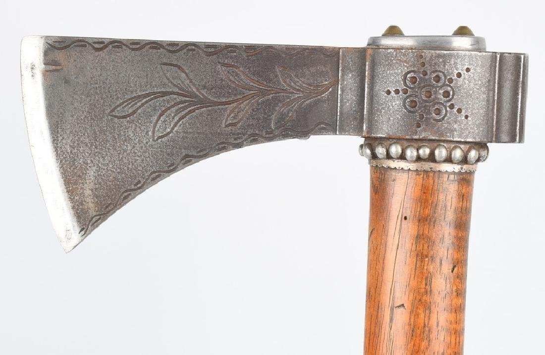TOMAHAWK ETCHED & SILVER DECORATED - 2