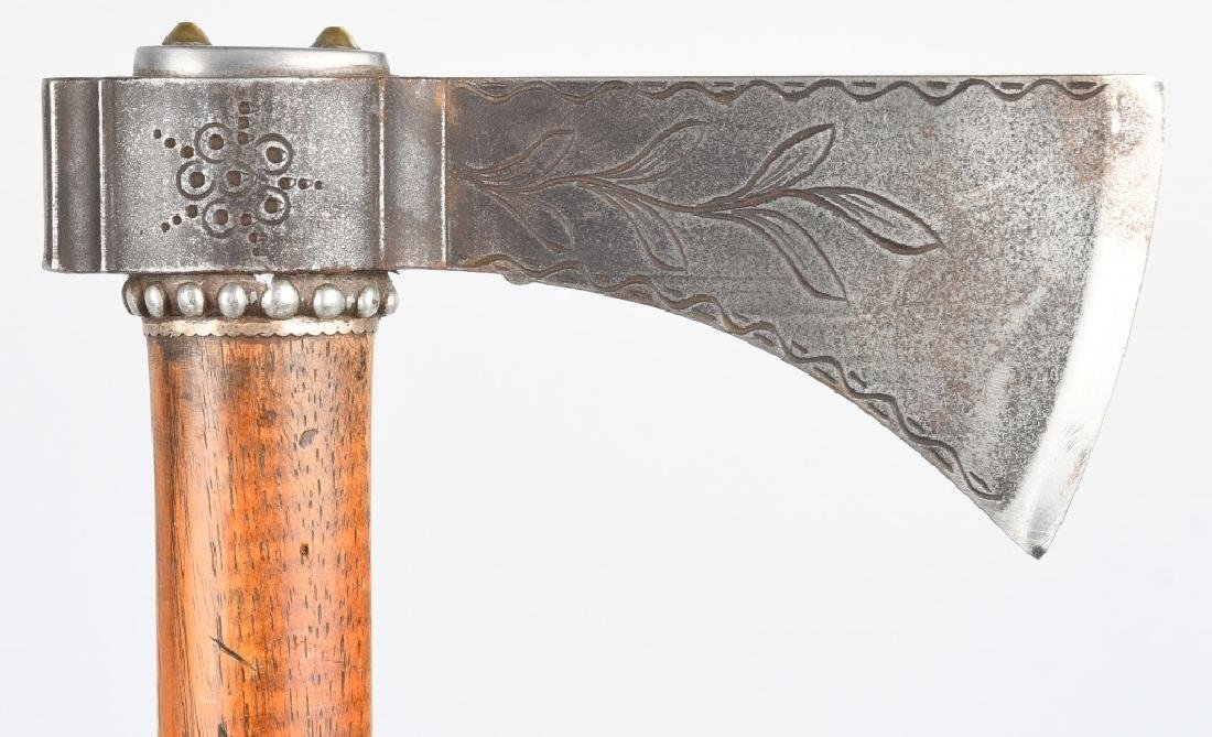 TOMAHAWK ETCHED & SILVER DECORATED - 3