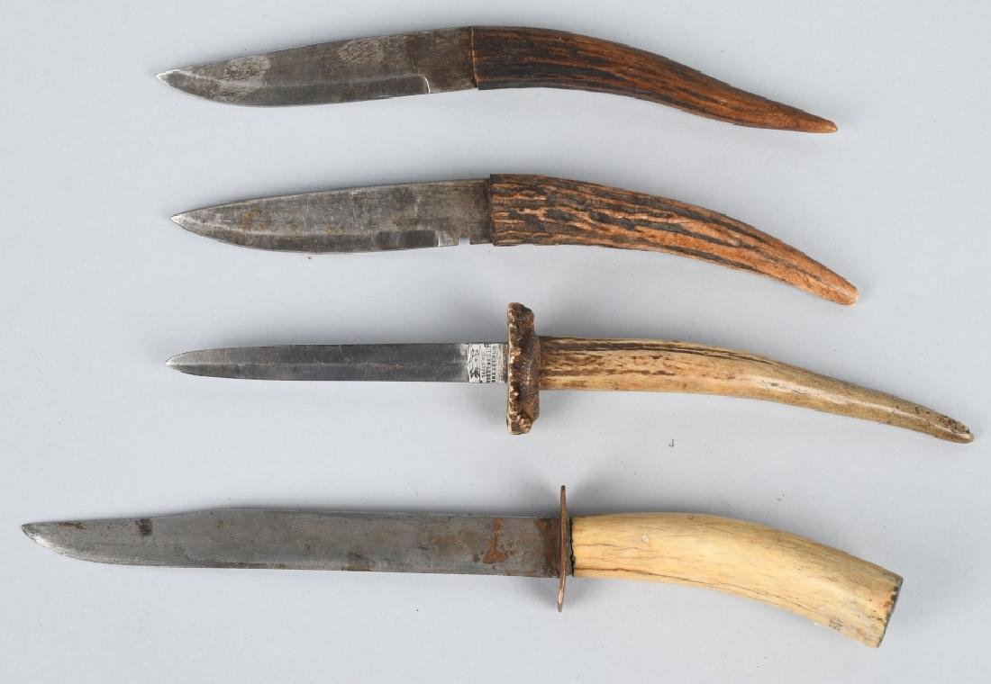 4-STAG HANDLE KNIVES SHEFFIELD & MORE