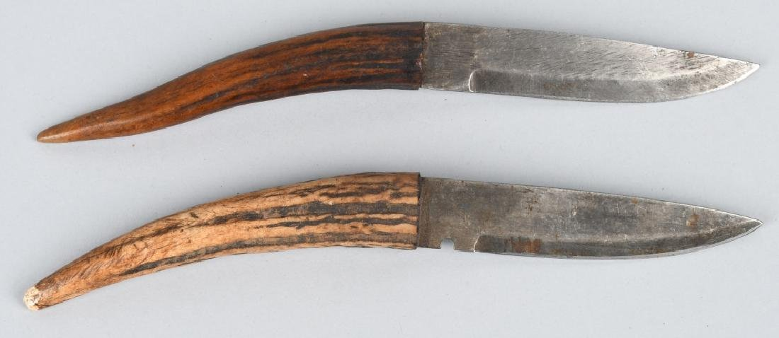 4-STAG HANDLE KNIVES SHEFFIELD & MORE - 2