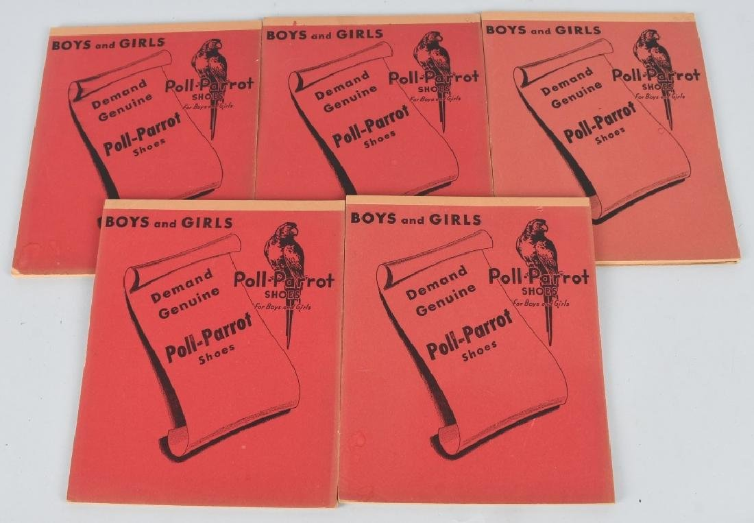 5- POLLY PARROT'S SHOES ADVERTISING NOTE BOOKS