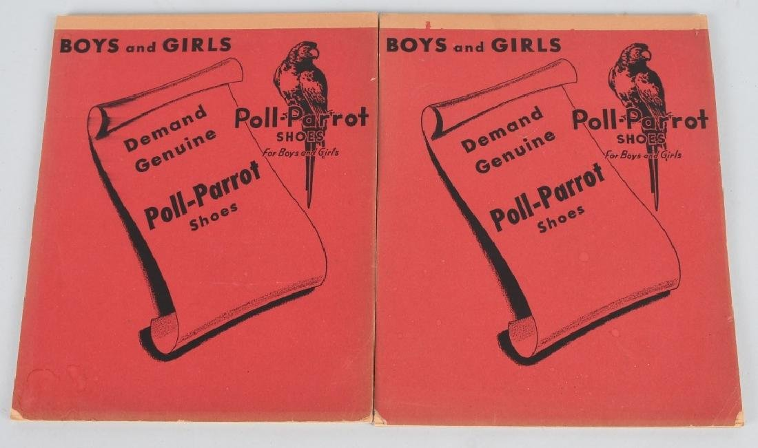 5- POLLY PARROT'S SHOES ADVERTISING NOTE BOOKS - 2