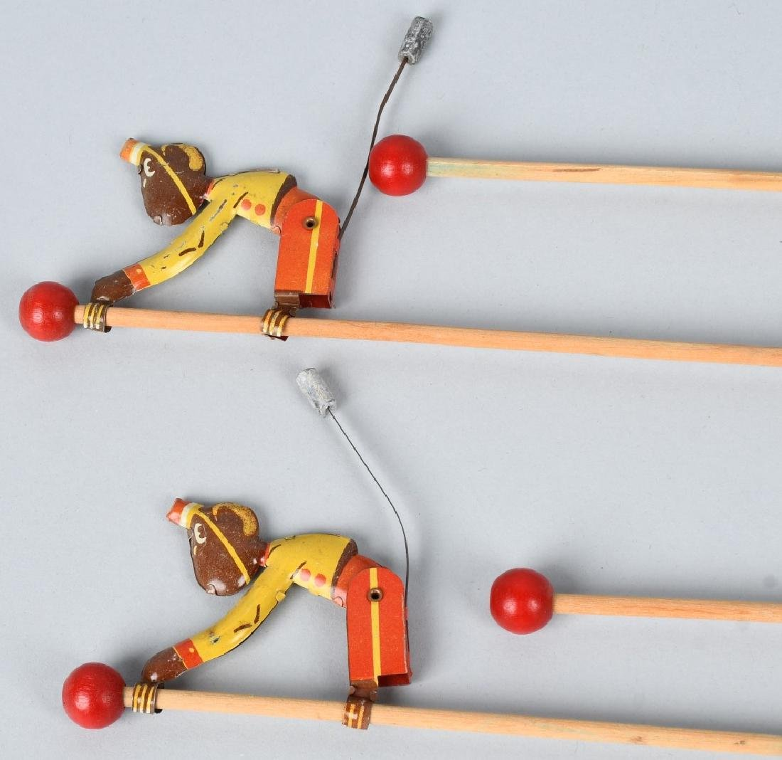 6-VINTAGE TIN TOY CLIMBING MONKEYS - 2