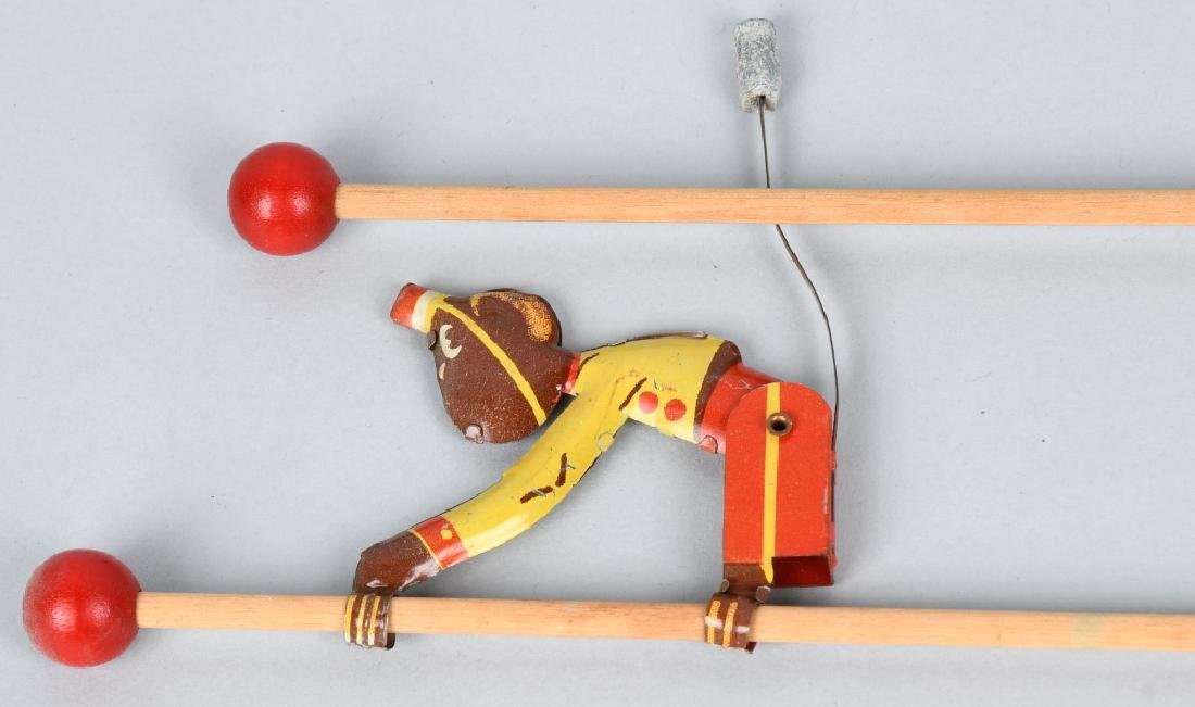 6-VINTAGE TIN TOY CLIMBING MONKEYS - 3