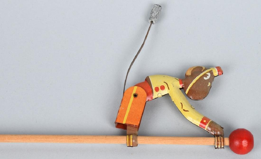 6-VINTAGE TIN TOY CLIMBING MONKEYS - 4