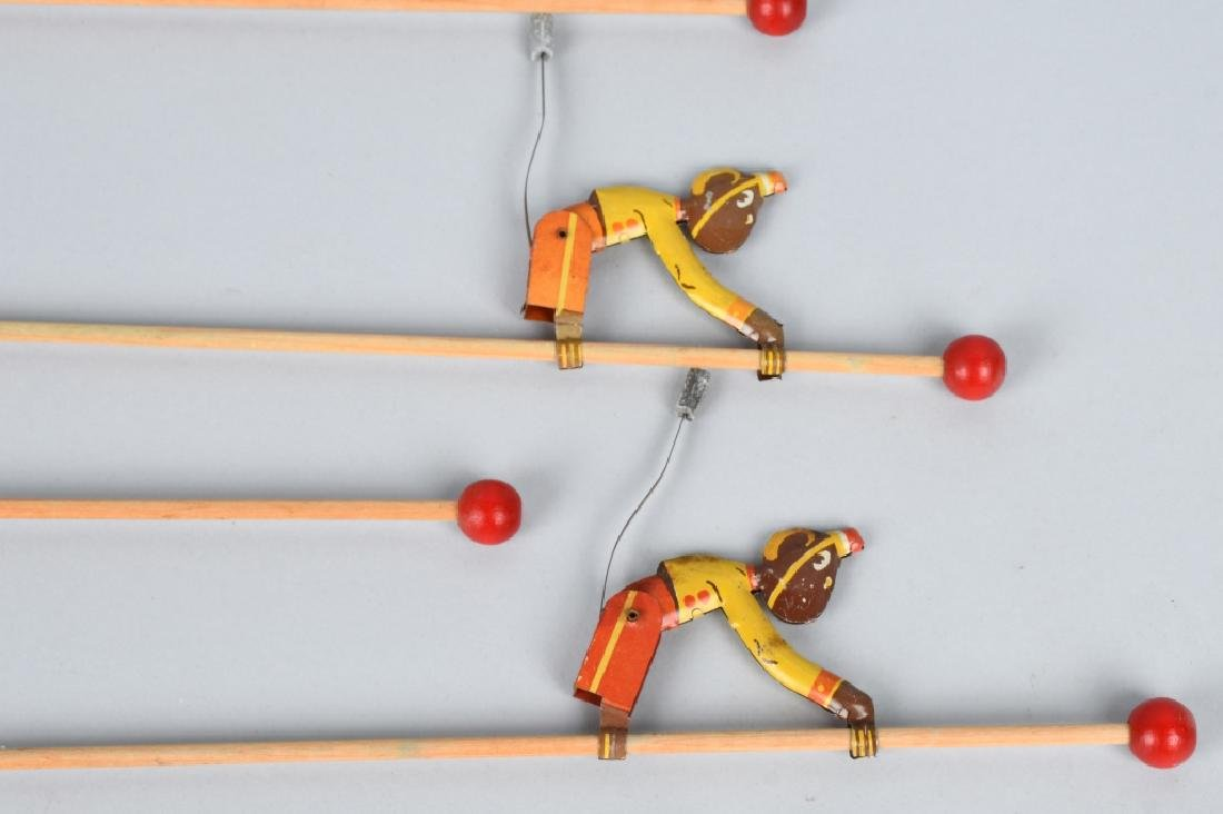 6-VINTAGE TIN TOY CLIMBING MONKEYS - 6