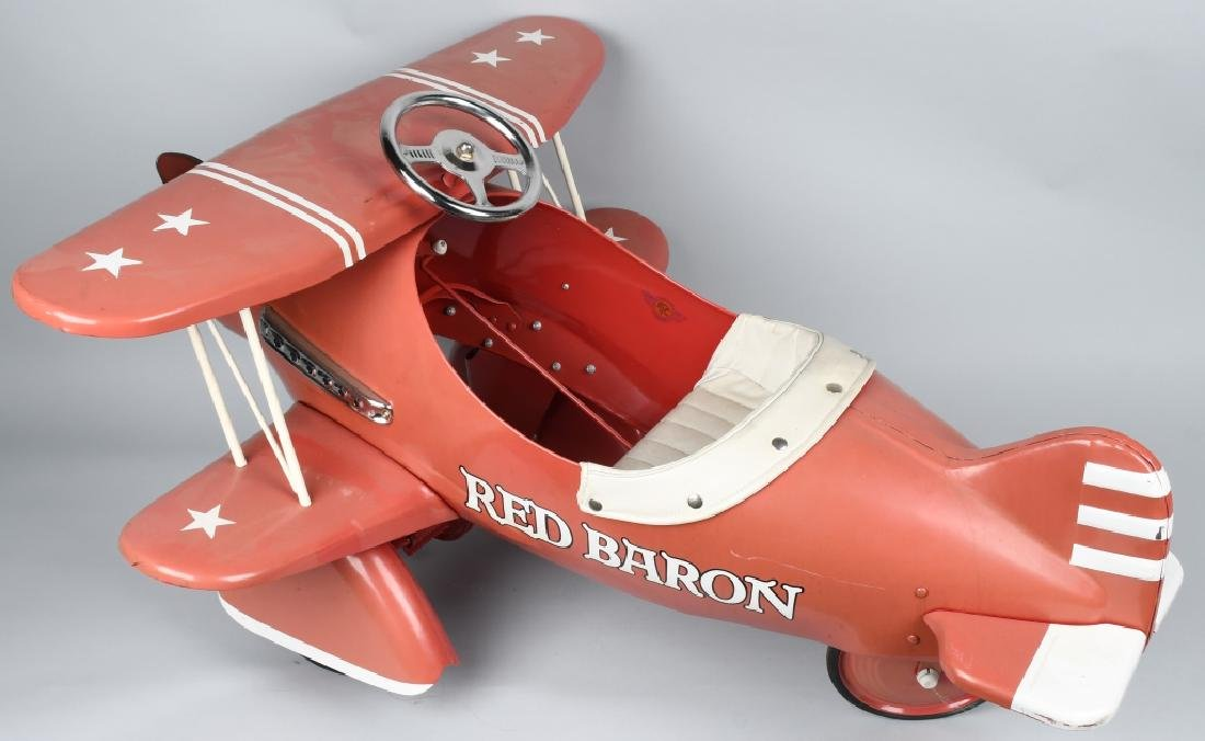 AFC RED BARON BI-WING PEDAL AIRPLANE - 3