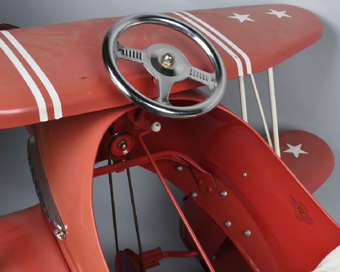 AFC RED BARON BI-WING PEDAL AIRPLANE - 5