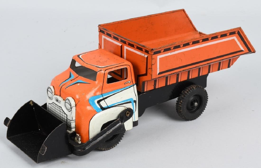 WYANDOTTE TOY DUMP TRUCK w/ SCOOP