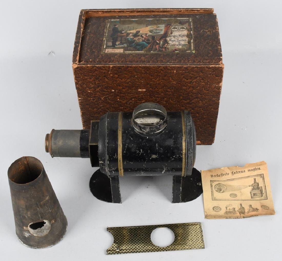1890s ERNEST PLANK MAGIC LANTERN w/ BOX