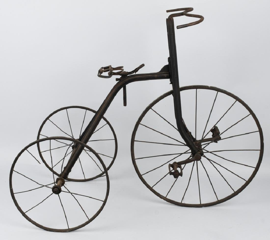 LATE 1800s METAL CHILDS TRICYCLE - 5