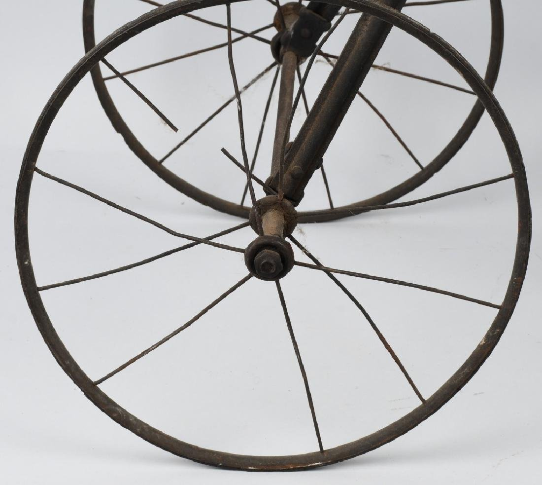 LATE 1800s METAL CHILDS TRICYCLE - 6