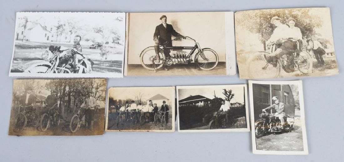 7- EARLY ORIGINAL MOTORCYCLE PICTURES