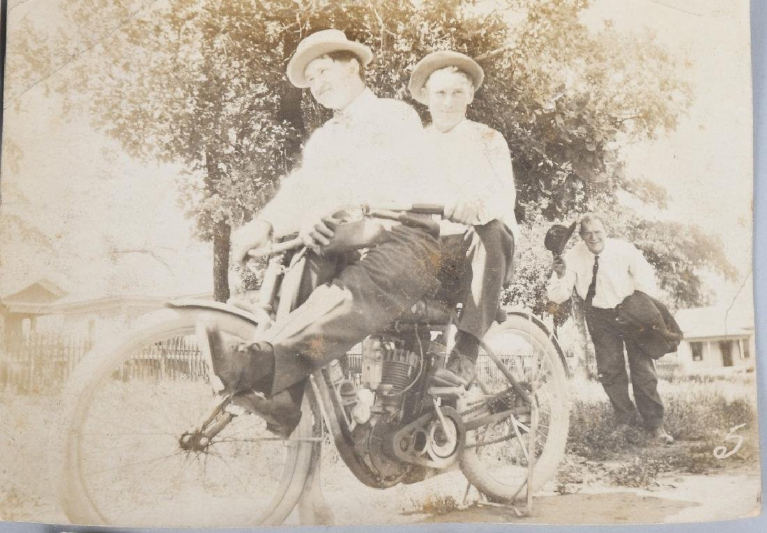 7- EARLY ORIGINAL MOTORCYCLE PICTURES - 4