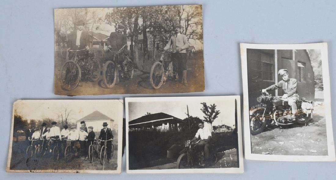 7- EARLY ORIGINAL MOTORCYCLE PICTURES - 5