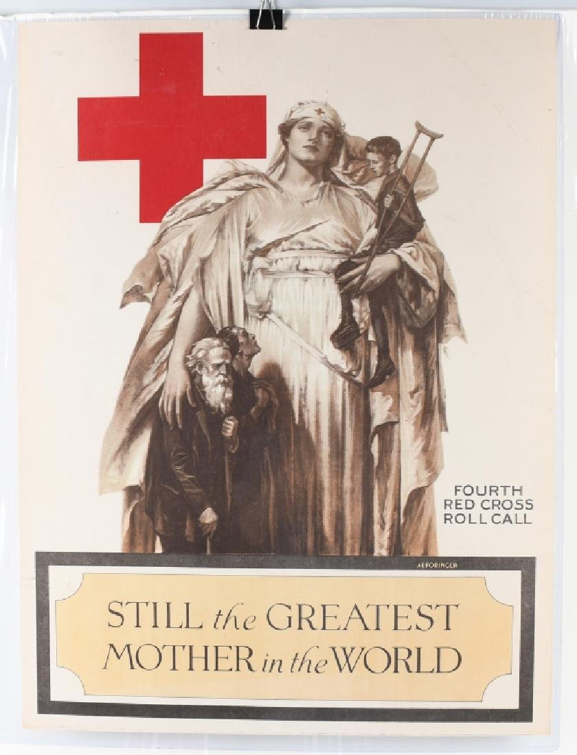 WW1 RED CROSS GREATEST MOTHER POSTER