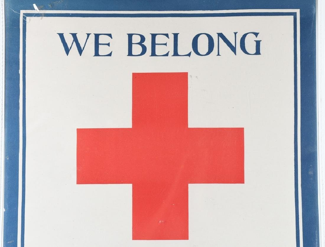 WW1 RED CROSS 100% STRONG POSTER - 2