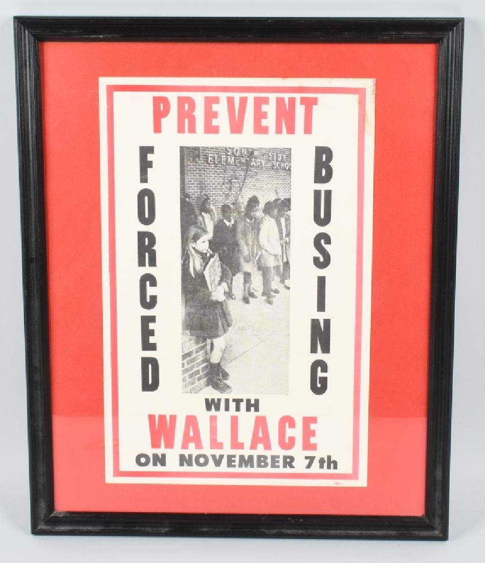 GEORGE WALLACE PREVENT FORCED BUSING POSTER