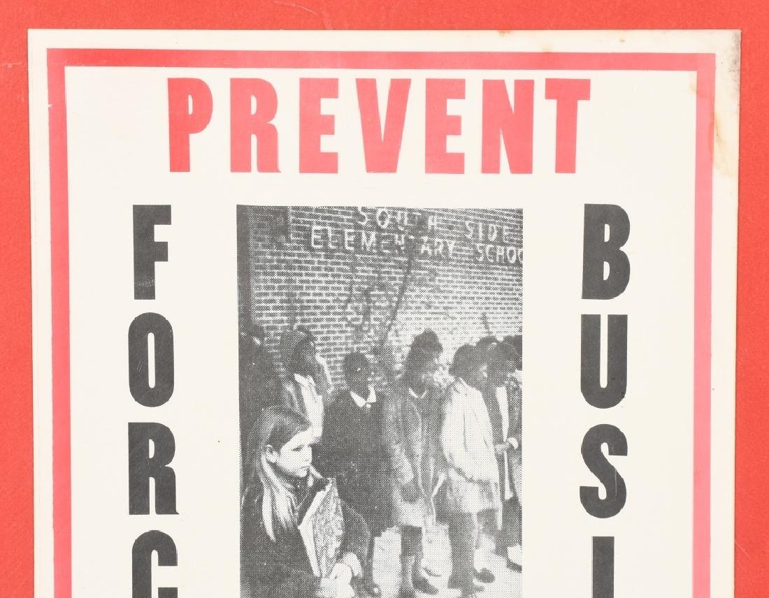 GEORGE WALLACE PREVENT FORCED BUSING POSTER - 2