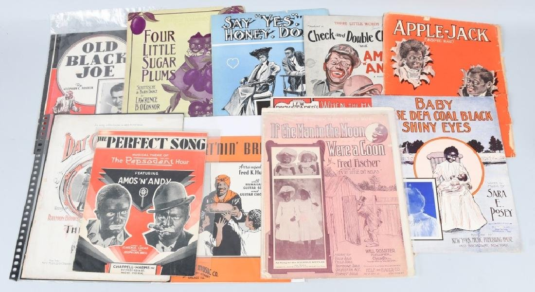 LOT OF BLACK AMERICANA SHEET MUSIC
