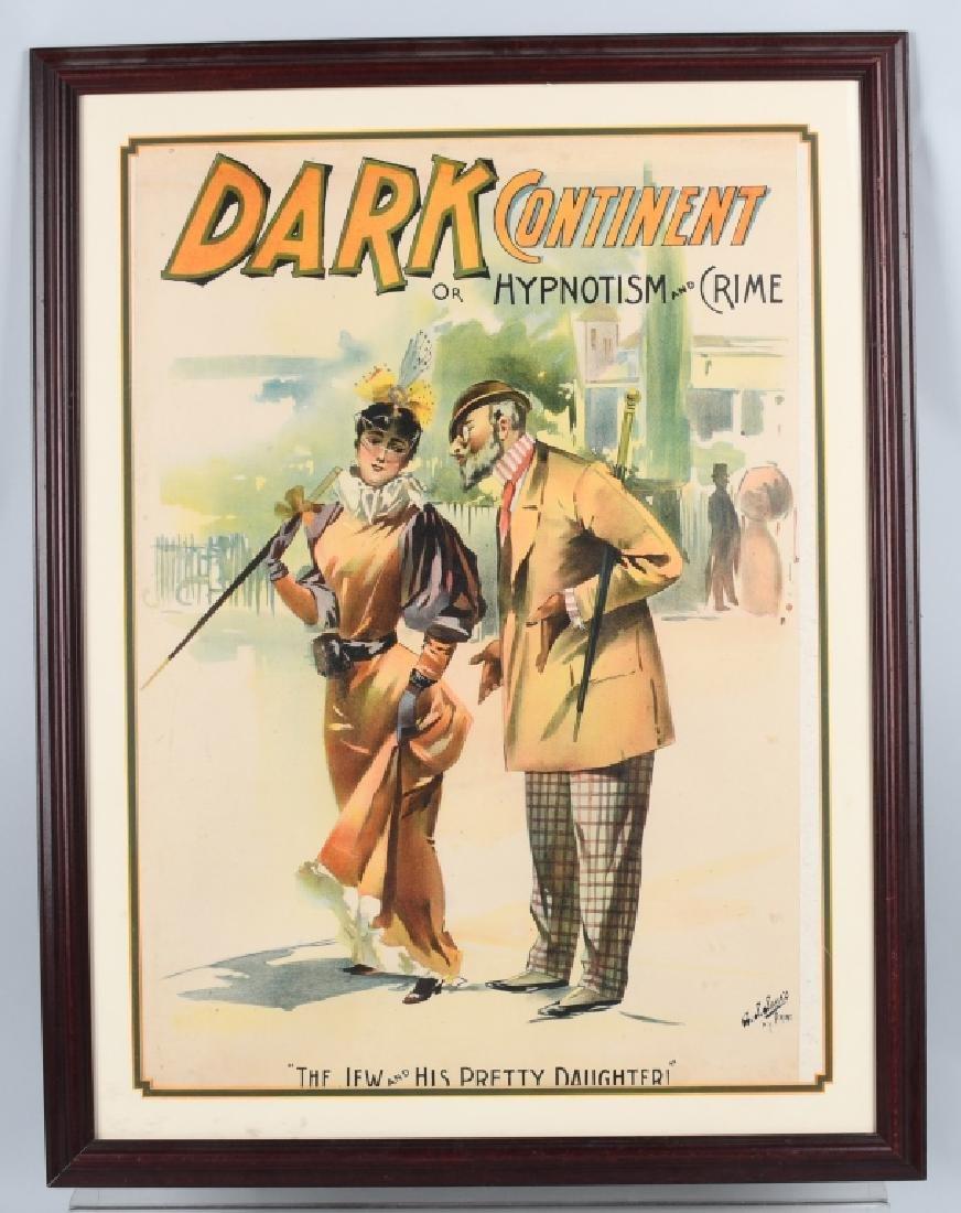 1893 DARK CONTINENT THEATER POSTER JUDAICA