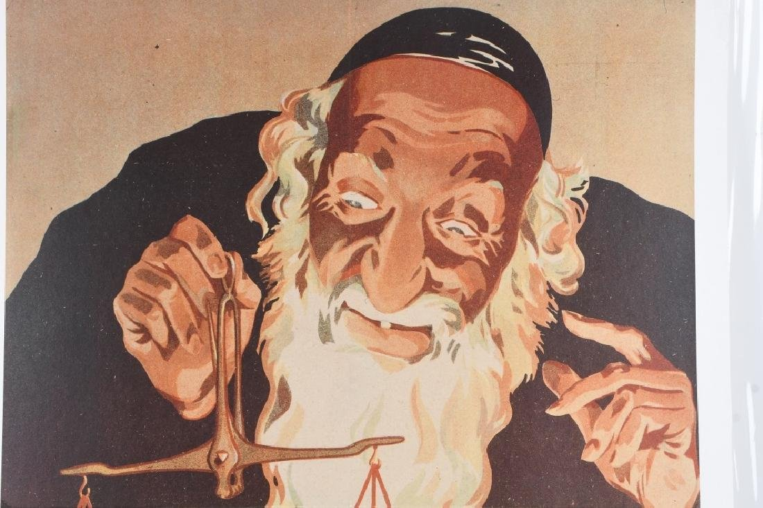 JEW HOLDING STALIN ON SCALE ANTI-SEMITIC POSTER - 2