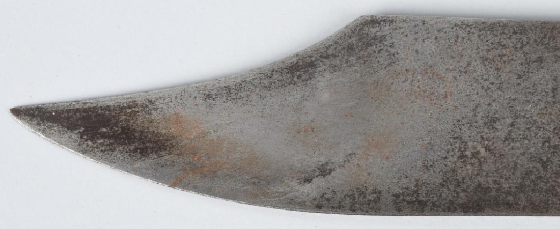 LARGE SILVER HANDLE SHEFFIELD BOWIE KNIFE, COA - 10