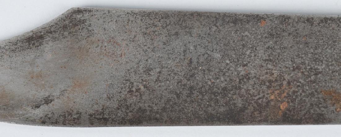LARGE SILVER HANDLE SHEFFIELD BOWIE KNIFE, COA - 9
