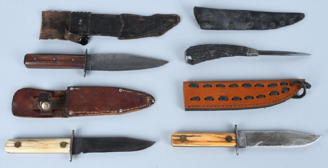 4-FIXED BLADE KNIVES with SHEATHES
