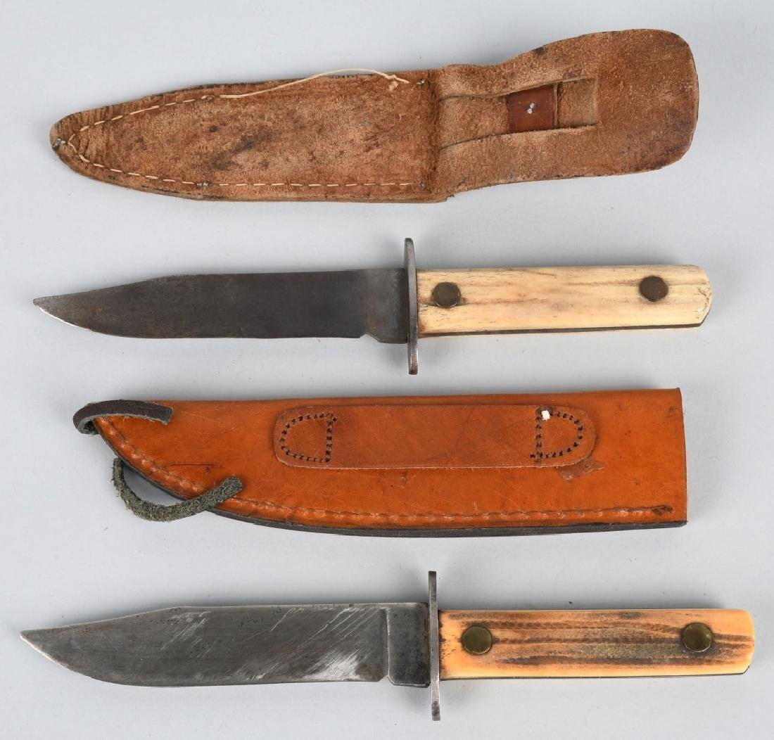 4-FIXED BLADE KNIVES with SHEATHES - 8