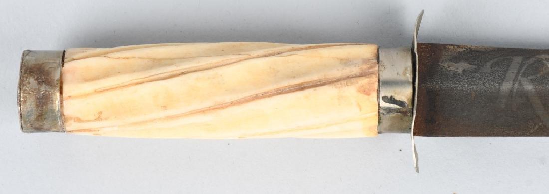 2-BONE HANDLED KNIVES, FIXED BLADE & POCKET - 2