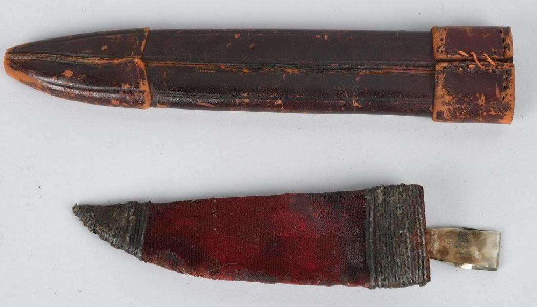 6-VINTAGE FIXED BLADE KNIFE SHEATHES - 4